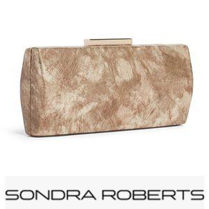 Sondra Roberts Marbelized Metallic Smooth Clutch